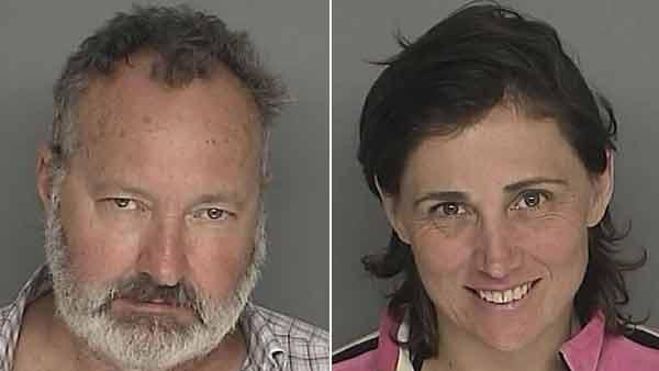 Randy and Evi Quaid were arrested for felony residential burglary at a home on the 1300 block of East Mountain Drive in Santa Barbara on Saturday, Sept. 18, 2010.