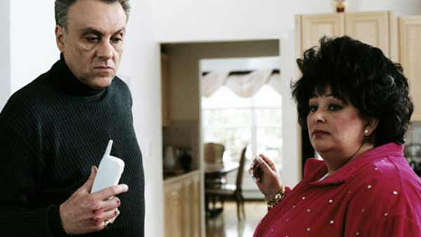 Actress Denise Borino-Quinn appears in a scene on the TV show, 'The Sopranos.' Borino-Quinn died on Wednesday, Oct. 27, 2010 after a long battle with liver cancer.