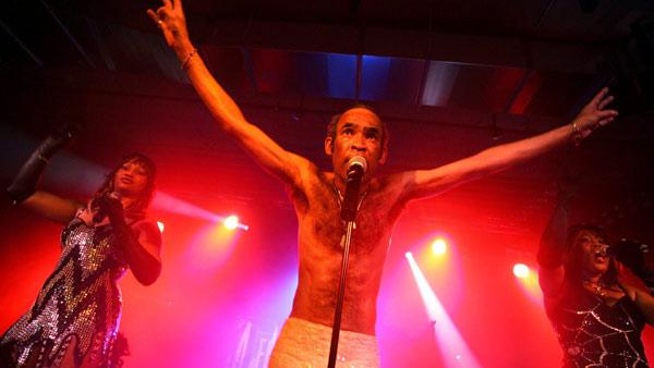 Bobby Farrell's Boney M group performs in a hall at Kloten airport in Zurich, Switzerland on Saturday, May 14, 2005.