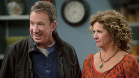 Tim Allen and Nancy Travis in a scene from the new ABC comedy series, Last Man Standing.