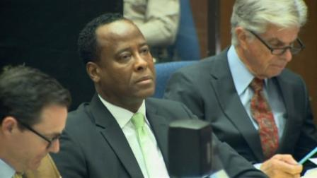 Dr. Conrad Murray is seen at his involuntary manslaughter trial in downtown Los Angeles on Friday, Sept. 30, 2011.