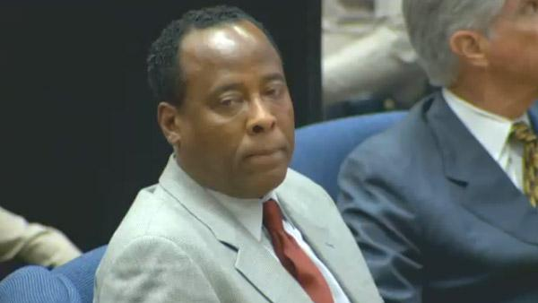 Dr. Conrad Murray is seen at his involuntary manslaughter trial in downtown Los Angeles on Thursday, Nov. 3, 2011.
