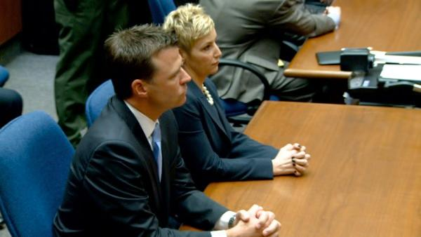 Deputy District Attorney David Walgren and prosecutor Deborah Brazil are seen before the verdict was read in the Conrad Murray trial on Monday, Nov. 7, 2011.