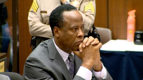 Conrad Murray is seen at sentencing in a Los Angeles courtroom on Tuesday, Nov. 29, 2011.