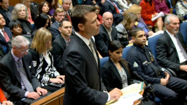 Deputy District Attorney David Walgren is seen in a Los Angeles courtroom at the sentencing of Conrad Murray on Tuesday, Nov. 29, 2011.