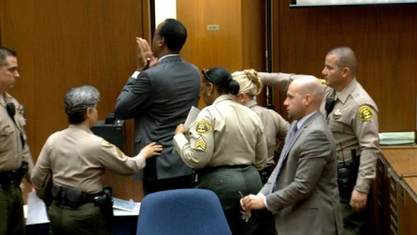 Before Conrad Murray was led out of the courtroom after his sentencing, he blew a kiss to someone in the court.
