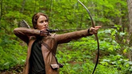 Jennifer Lawrence appears in a scene from the 2012 film The Hunger Games.
