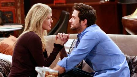 Laura Wright (Carly) and Brandon Barash (Johnny) in a scene from General Hospital that aired the week of March 19, 2012.