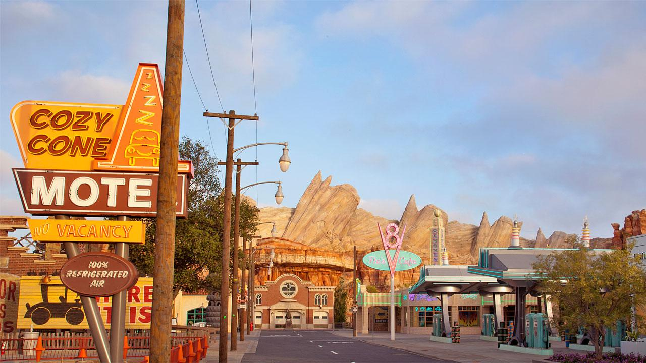 Wilys Butte, shown here, is part of Ornament Valley, the setting for Radiator Springs Racers, a twisting turning, high-speed adventure through the town of Radiator Springs. <span class=meta>(Paul Hiffmeyer&#47;Disneyland Resort)</span>