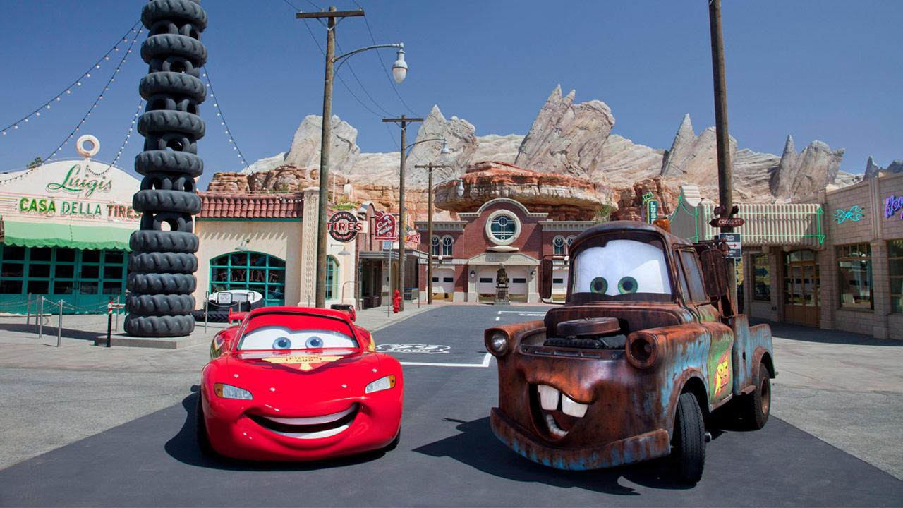 Cars Land features three immersive family attractions showcasing characters and settings from the Disney-Pixar film, Cars, including one of the largest and most elaborate themed environments ever created for a Disney park. <span class=meta>(Paul Hiffmeyer&#47;Disneyland Resort)</span>