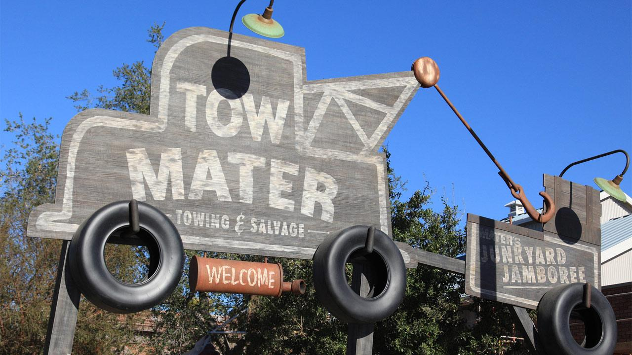 Mater has adapted his home to host Maters Junkyard Jamboree in Cars Land at Disney California Adventure park.Paul Hiffmeyer/Disneyland Resort