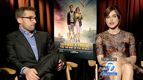 Carell, Knightley talk 'End of World' film
