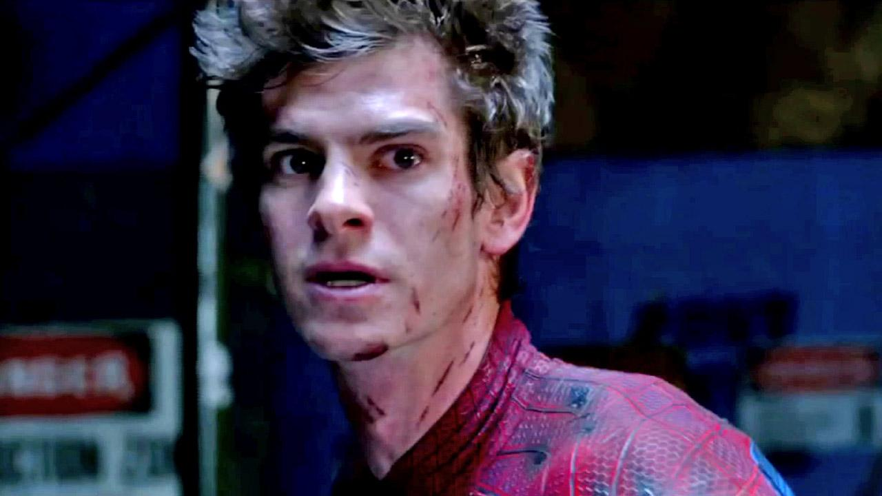 Actor Andrew Garfield in a scene from the 2012 film The Amazing Spider-Man.