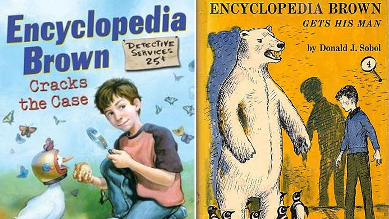 Two Encyclopedia Brown book covers are seen in this file photo.