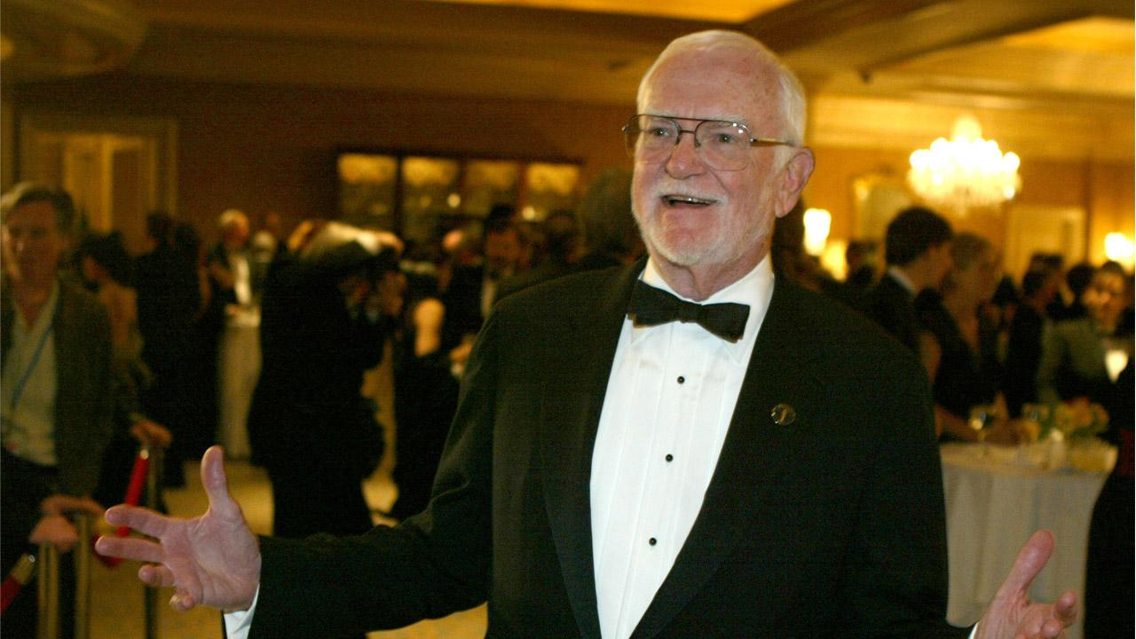 Former Academy President Frank Pierson arrives at the Academy of Motion Picture Arts and Sciences, Scientific and Technical Achievements Awards dinner. Pierson died Monday, July 23, 2012, after a short illness. He was 87.Chris Carlson