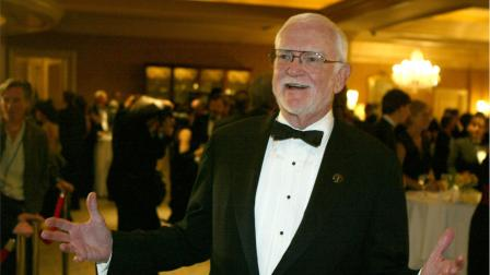 Former Academy President Frank Pierson arrives at the Academy of Motion Picture Arts and Sciences, Scientific and Technical Achievements Awards dinner. Pierson died Monday, July 23, 2012, after a short illness. He was 87.