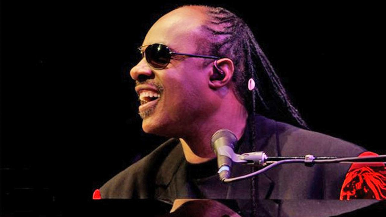 Stevie Wonder appears in concert in a photo posted on his Facebook page on April 19, 2011.