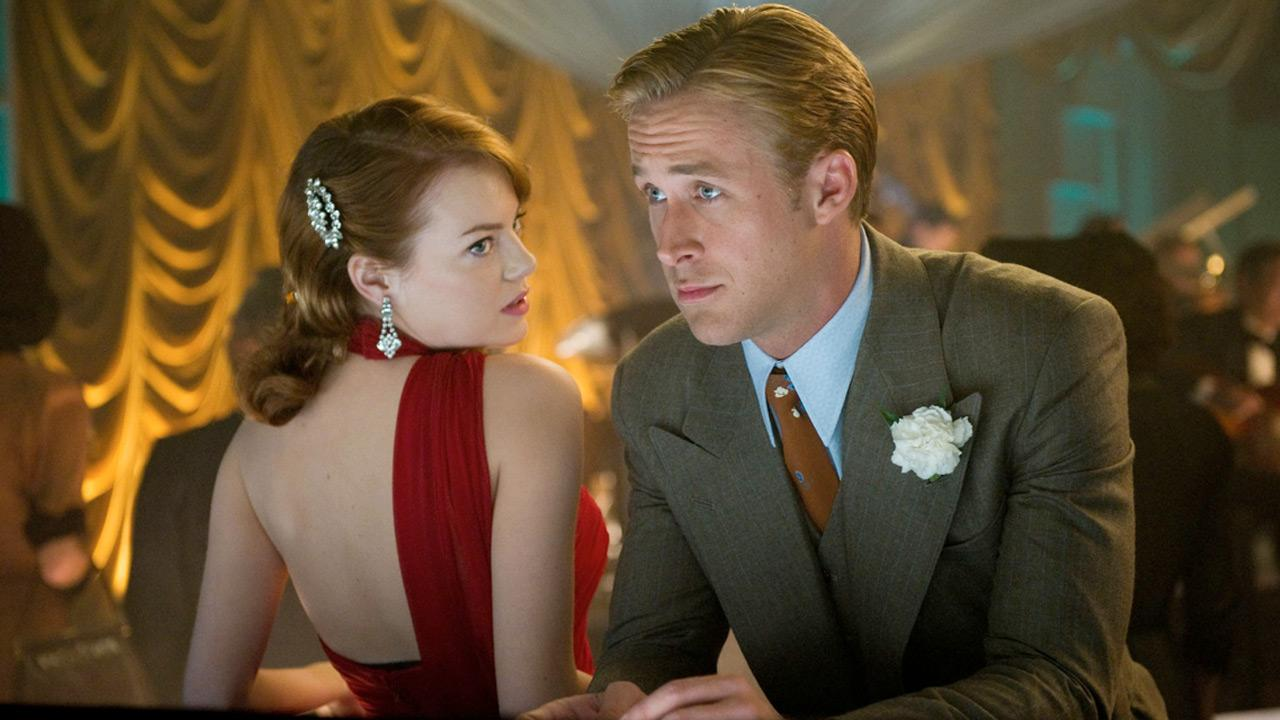 Emma Stone and Ryan Gosling in a scene from the film, Gangster Squad.