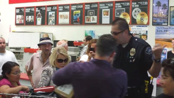 Joan Rivers escorted out of Costco by police