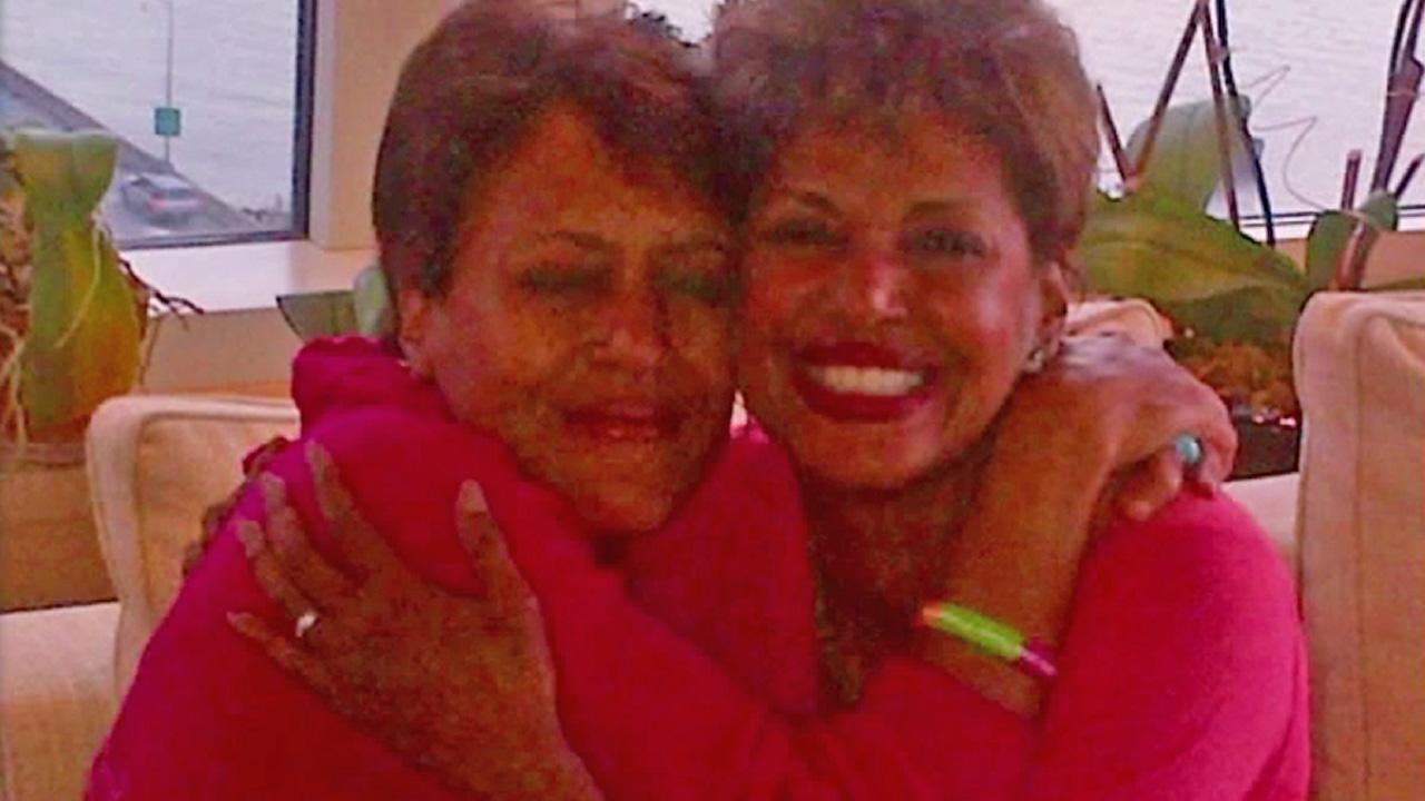 GMA host Robin Roberts (left) is seen in this undated file photo with her sister (right).