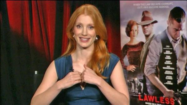 Down and dirty Jessica Chastain in 'Lawless'
