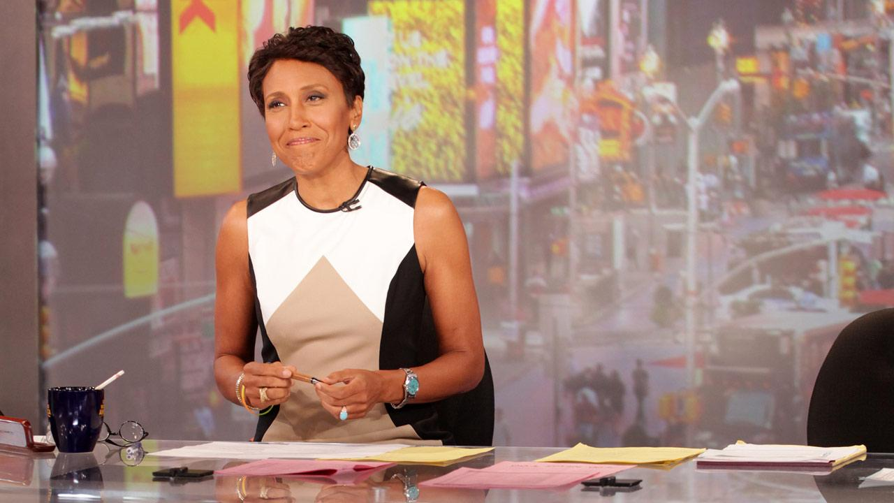 Robin Roberts makes her final appearance on Good Morning America on Thursday, Aug. 30, 2012, before taking medical leave.