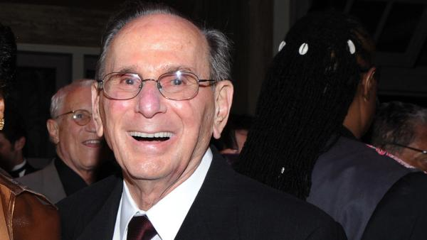 This Oct. 17, 2011 file photo shows legendary songwriter Hal David at the 'Love, Sweet Love' musical tribute to him on his 90th birthday in Los Angeles, Calif. David died from stroke complications on Saturday, Sept. 1, 2012. He was 91.