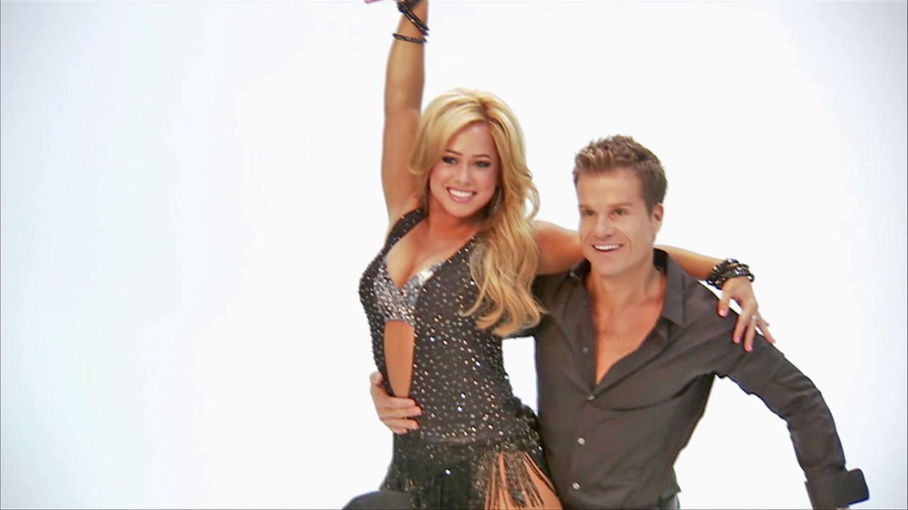 Sabrina Bryan and Louis Van Amstel appear together in this undated file photo. The two were partners for season 15 of Dancing With The Stars: All-Stars.