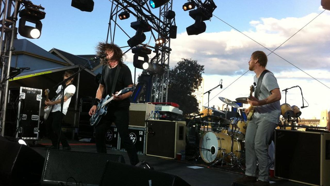 The Foo Fighters perform in this photo from their Facebook page.