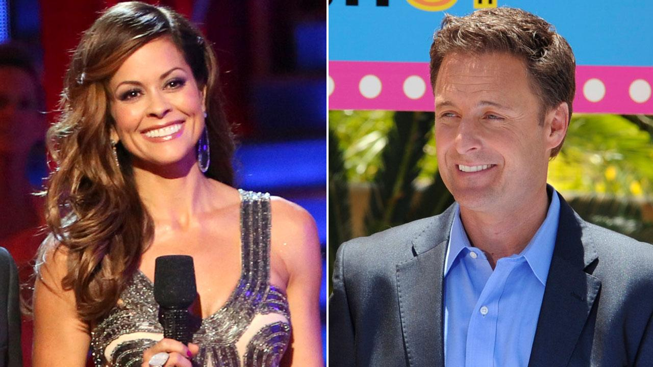 (Left) Brooke Burke-Charvet appears on ABCs Dancing With The Stars: All Stars on Monday, Oct. 1, 2012 (Right) Chris Harrison appears on an episode of ABCs Bachelor Pad.