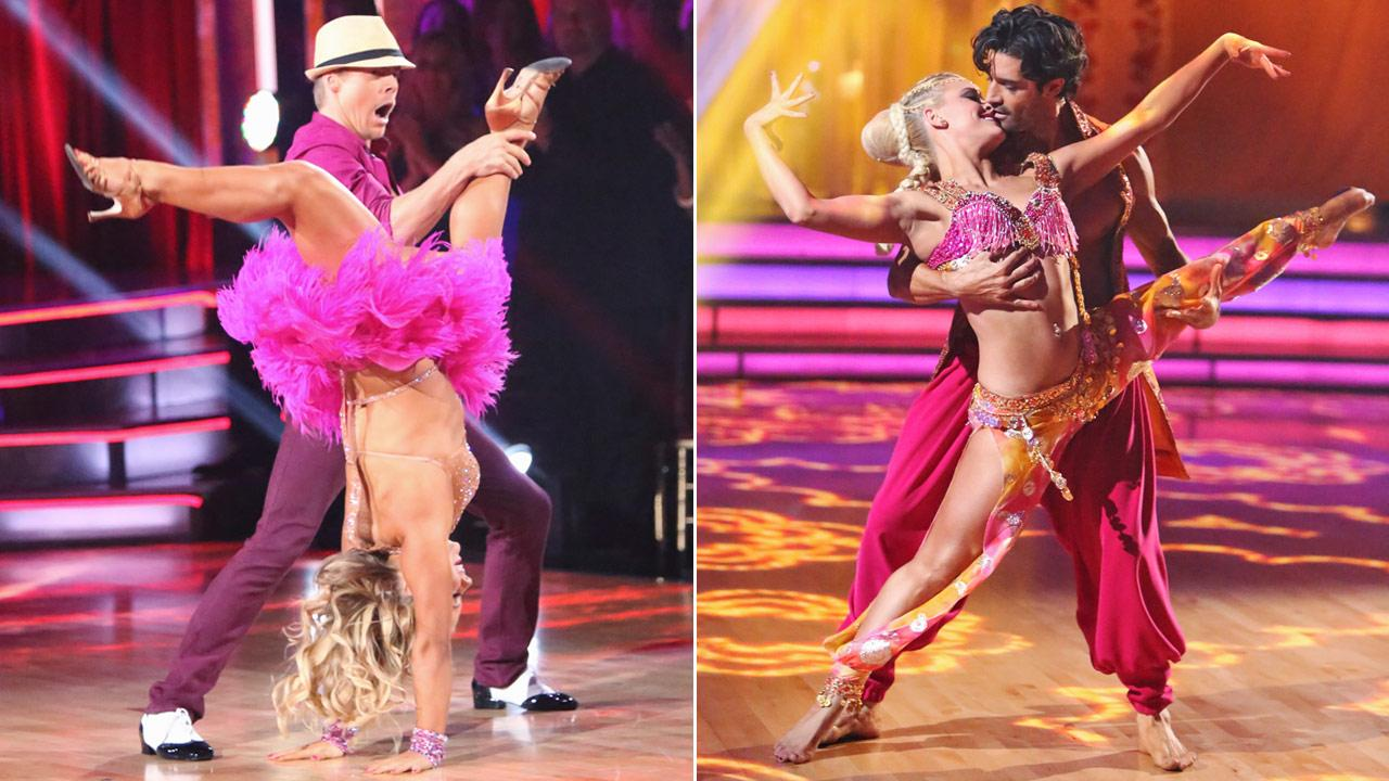 Shawn Johnson, Derek Hough, Gilles Marini and Peta Murgatroyd perform on Dancing With The Stars: All-Stars on Monday, Oct. 16, 2012.