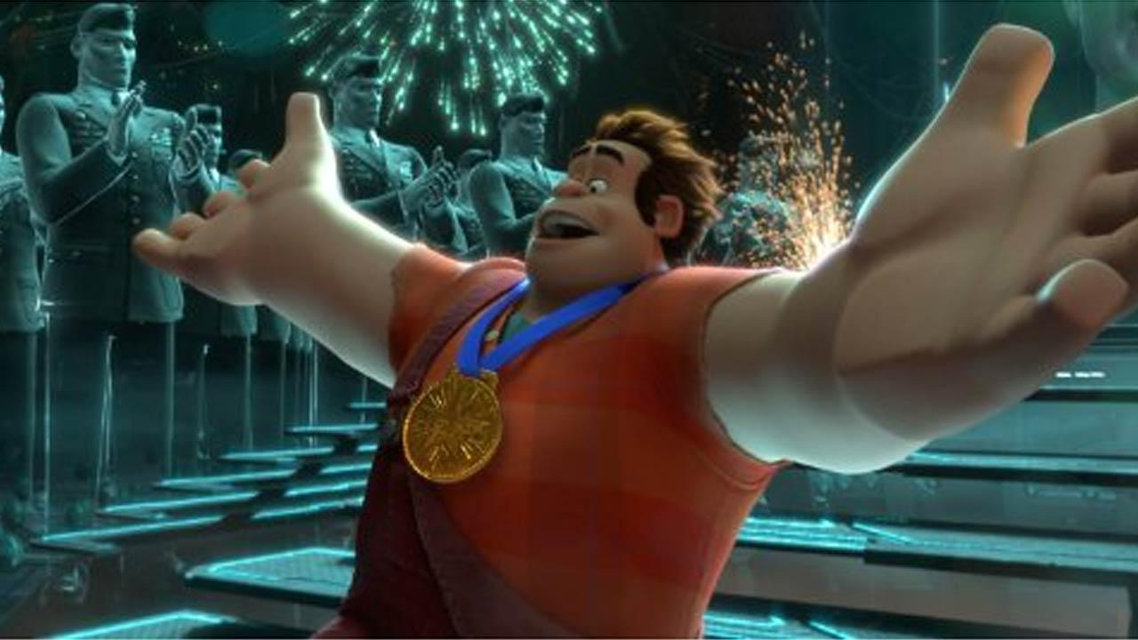 A scene from the 2012 animated film Wreck-It Ralph.