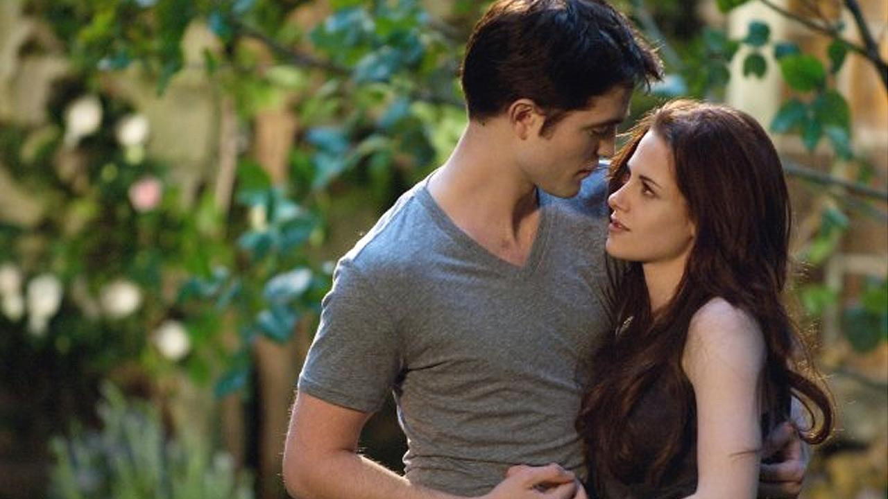 Kristen Stewart and Robert Pattinson are shown in a still image from the film, The Twilight Saga: Breaking Dawn - Part 2.