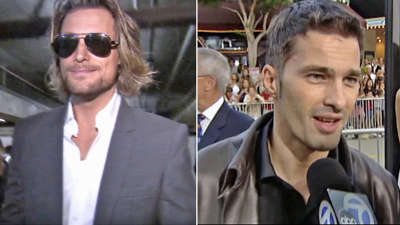 This split image shows Gabriel Aubry (left), the father of Halle Berrys daughter, and Olivier Martinez (right), Berrys fiance.