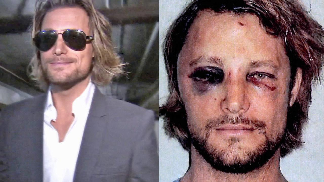 This photo made available in Los Angeles Superior Court documents released Monday, Nov. 26, 2012 shows Gabriel Aubry, who was arrested after a Thanksgiving confrontation at Halle Berrys house with the actress fiance, Olivier Martinez.