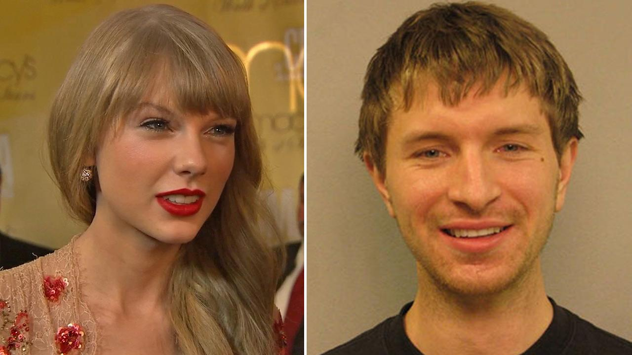 Left: Singer Taylor Swift talks to OTRC.com at the CMA Awards on November 1, 2012. Right: Jacob Kulke, a man arrested for climbing a fence at Taylor Swifts Nashville home, is seen in an undated photo.