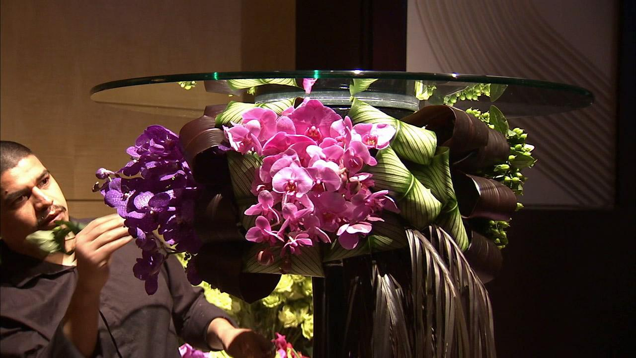 For the floral arrangements this year, Marks Garden is creating elaborate designs such as creative cocktail tables for drinks.