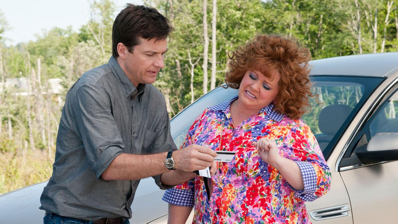 Jason Bateman and Melissa McCarthy in a scene from the 2013 film, Identity Thief.