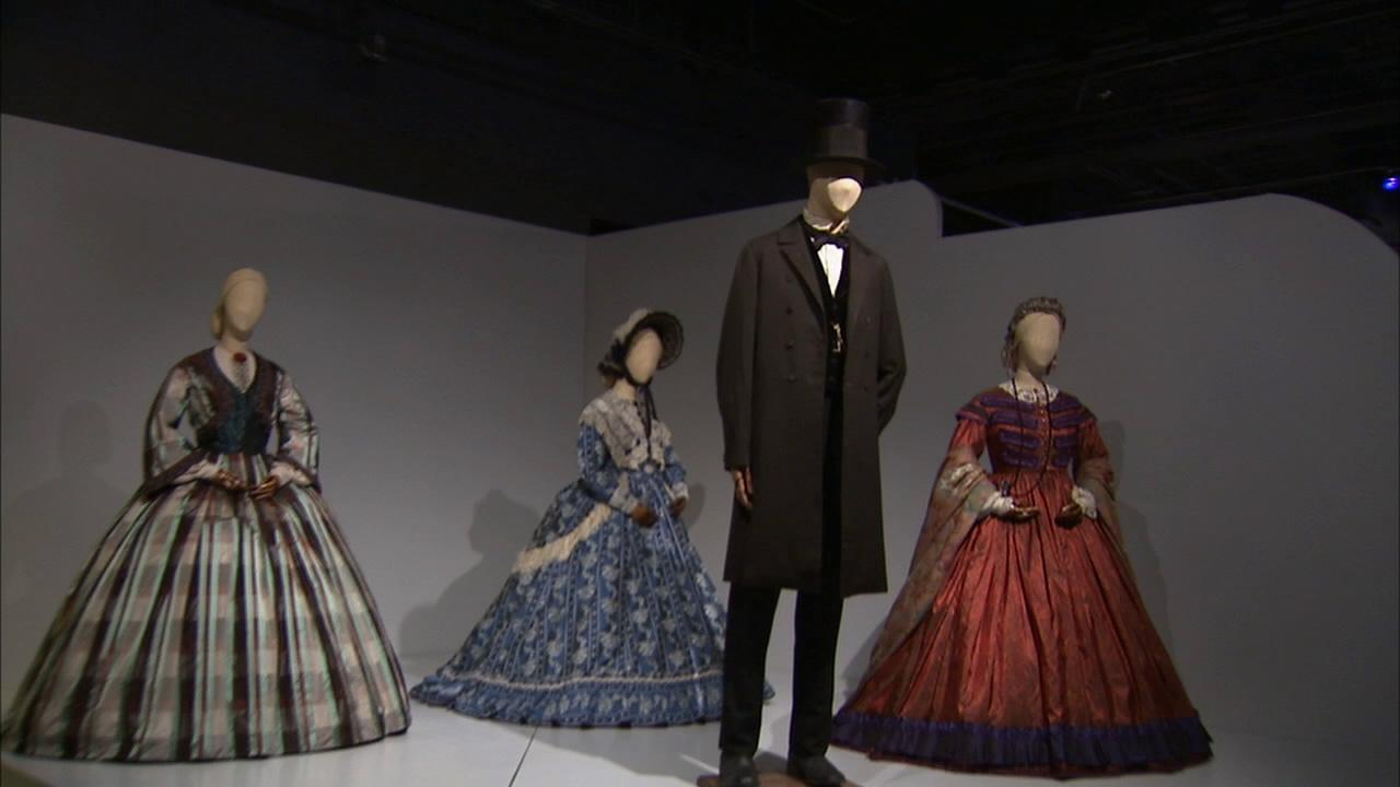 Costumes from the film Lincoln on display at the Fashion Institute of Design and Merchandisings 21st annual Art of Motion Picture Costume Design in downtown Los Angeles.