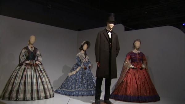 Costumes from the film 'Lincoln' on display at the Fashion Institute of Design and Merchandising's 21st annual Art of Motion Picture Costume Design in downtown Los Angeles.