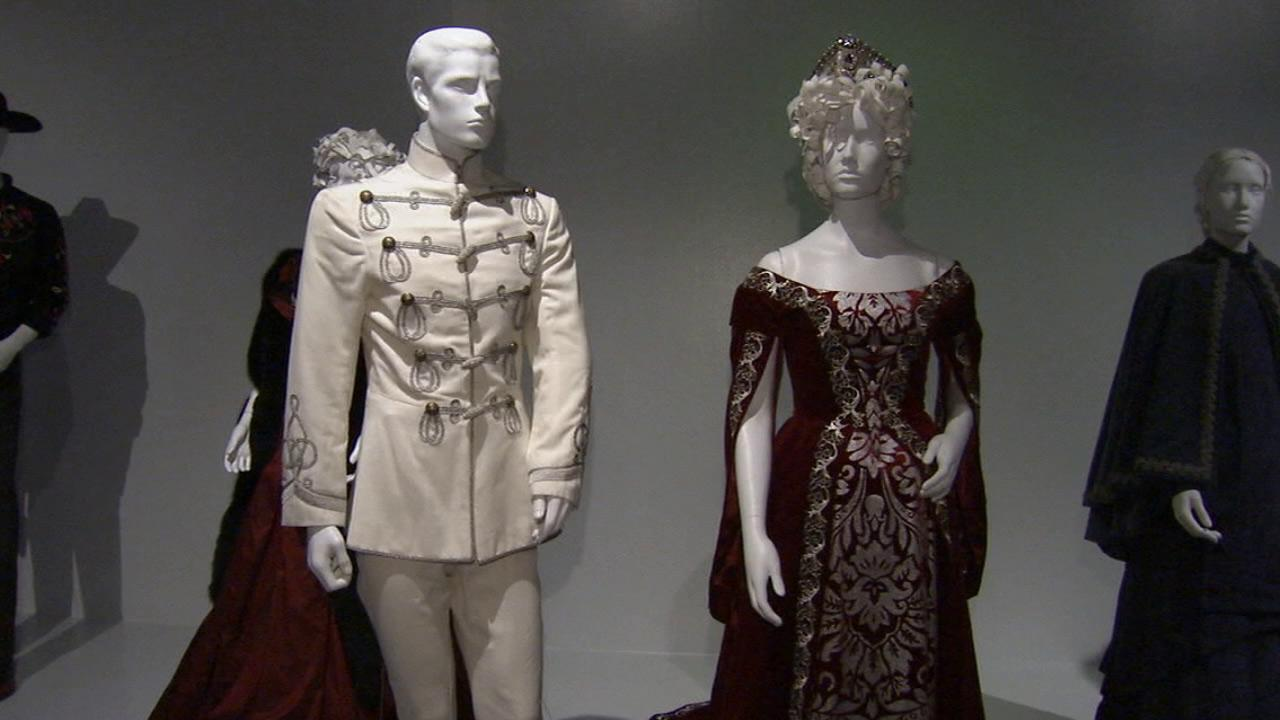 Costumes from the film Anna Karenina on display at the Fashion Institute of Design and Merchandisings 21st annual Art of Motion Picture Costume Design in downtown Los Angeles.