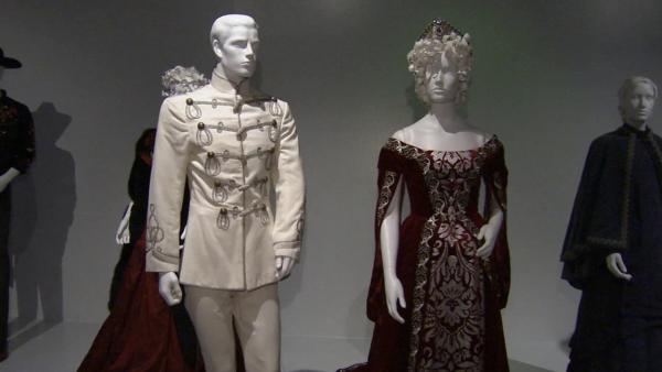 Costumes from the film 'Anna Karenina' on display at the Fashion Institute of Design and Merchandising's 21st annual Art of Motion Picture Costume Design in downtown Los Angeles.