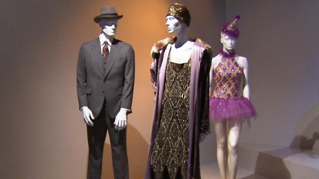 Costumes from the film The Artist on display at the Fashion Institute of Design and Merchandisings 21st annual Art of Motion Picture Costume Design in downtown Los Angeles.