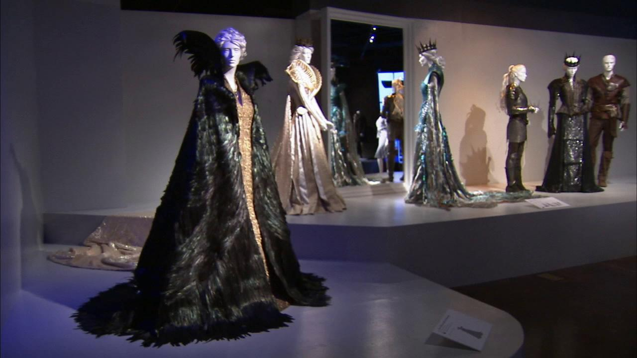 Costumes from the film Snow White and the Huntsman on display at the Fashion Institute of Design and Merchandisings 21st annual Art of Motion Picture Costume Design in downtown Los Angeles.