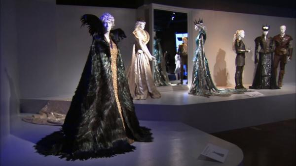 Costumes from the film 'Snow White and the Huntsman' on display at the Fashion Institute of Design and Merchandising's 21st annual Art of Motion Picture Costume Design in downtown Los Angeles.