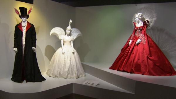 Costumes from the film 'Mirror Mirror' on display at the Fashion Institute of Design and Merchandising's 21st annual Art of Motion Picture Costume Design in downtown Los Angeles.