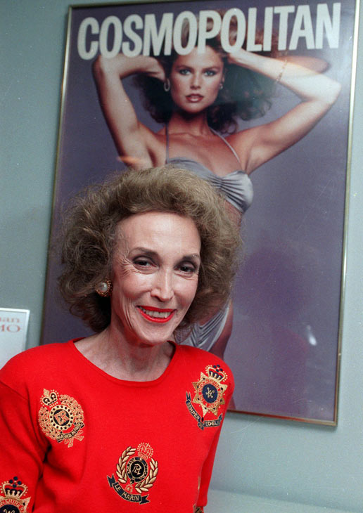 This 1990 file photo shows Cosmopolitan magazine editor Helen Gurley Brown in her New York office. Brown, longtime editor of Cosmopolitan magazine, died Monday, Aug. 13, 2012 at a hospital in New York after a brief hospitalization. She was 90. <span class=meta>(AP Photo&#47;Marty Lederhandler)</span>