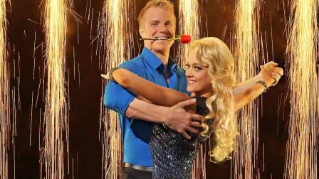 Bachelor star Sean Lowe is seen in a promotional photo with partner Peta Murgatroyd for Dancing With The Stars.