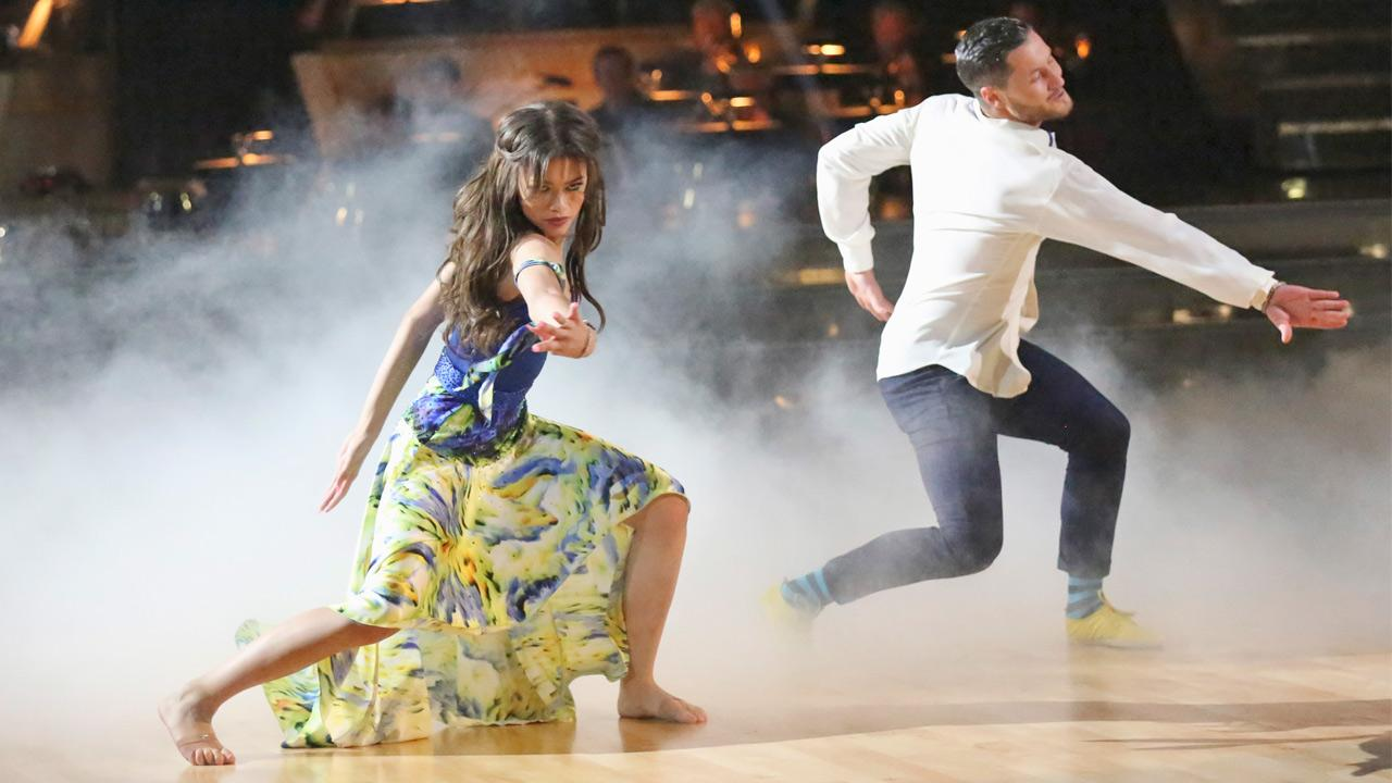 Disney actress Zendaya Coleman and her partner Val Chmerkovskiy perform a contemporary dance on the Dancing With The Stars Season 16 premiere on Monday, March 18, 2013.