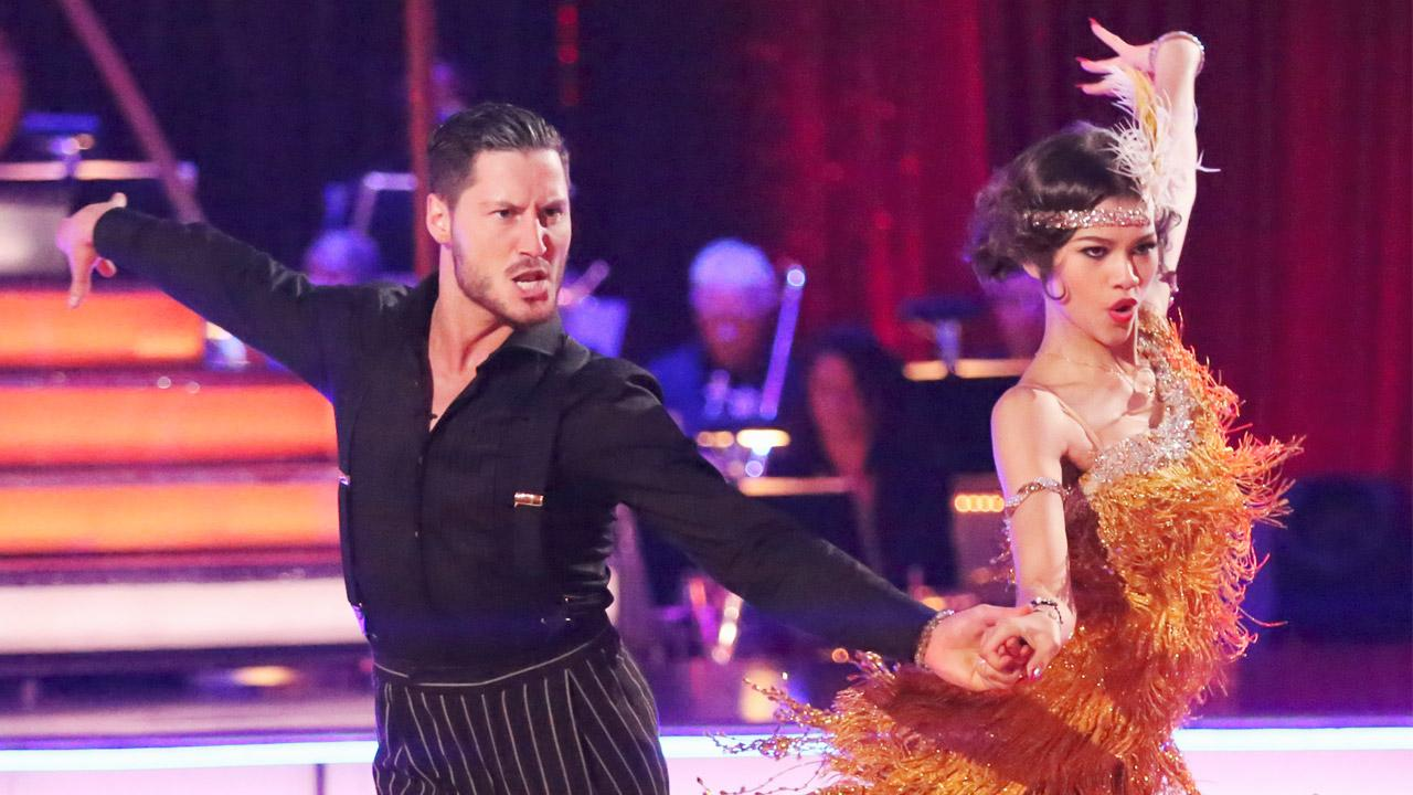 Zendaya Coleman and Val Chmerkovskiy perform a Jive on Dancing With The Stars on Monday, March 25, 2013.